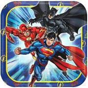 AMERICAN GREETINGS Justice League Square Plate (8 Count), 7