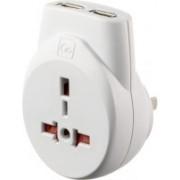 Go Travel Transworld USB Worldwide Adaptor(White)