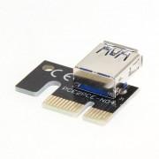 EW USB3.0 Aumento de tarjeta gráfica PCI-E de 1x a 16X Adaptador de extensión de minería