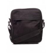 Черна чанта от естествена декорирана кожа