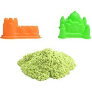 UNTOLD 350GM MAGIC SAND COLORFUL SAND WITH 2 PIECE MOLDS - LEMON YELLOW COLOR