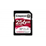 SD Kingston Canvas React 256GB class10 SDXC UHS-I U3 V30 (100MB/s-80MB/s)-SDR