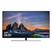 """Samsung Tv 55"""" Samsung Qe55q80rat Qled Q80r 2019 4k Uhd Smart Wifi 3700 Pqi Hdmi Usb Refurbished Eclipse Silver"""