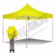 ray bot Gazebo pieghevole 3x3 giallo Exa 45mm alluminio senza laterali PVC 350g