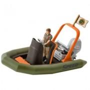 Figurina Schleich - Barca gonflabila cu padurar - SL42352