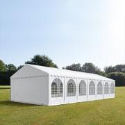 Intent24.fr Tente de réception 6x14m PVC 550 g/m² blanc imperméable barnum, chapiteau