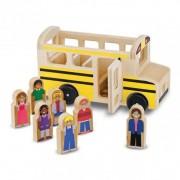 Set de joaca Autobuz cu pasageri Melissa Doug