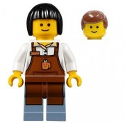 LEGO Town Modular Minifigure - Barista Male Female with Extra Hairpiece (10255)