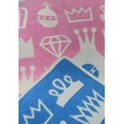 Klippan Yllefabrik Royal filt bomullschenille rosa, Klippan Yllefabrik