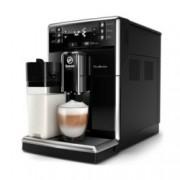 Aвтоматична еспресо кафемашина Philips Saeco PicoBaristo, 10 напитки, вградена първокласна кана за мляко, предна част с цвят Piano Black, 10-степенна регулируема мелачка