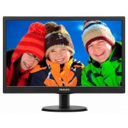 "Philips V-line 193V5LSB2 - Monitor LED - 18.5"" - 1366 x 768 - 200 cd/m² - 700:1 - 5 ms - VGA - preto texturizado, linha fina pr"