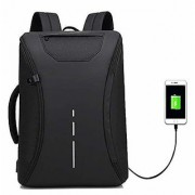 360 Degree Open Anti Theft Backpack Briefcase Inbuilt USB Charging Port 15.6 Inch Laptop Ba