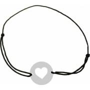 Bratara Inima Argint 925 banut decupat snur negru unisex Artemis Gift