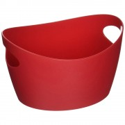 Koziol Škopek do koupelny BOTTICHELLI, velikost L - malinová barva, KOZIOL