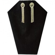Stone Made Round Shape Tassel Drop Earring For Women