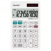 Calculator de birou, 10 digits, 120 x 71 x 10 mm, dual power, SHARP EL-377W - alb