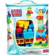 Set Fisher-Price Cuburi Colorate de Construit Mega Bloks 60 de piese