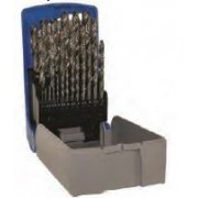 Set burghie DIN 338, rectificate, HSS 1-13 mm x 0,5 mm / 25 piese, Tivoly