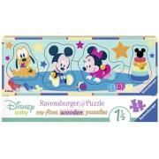 Puzzle Lemn Personaje Disney, 4 Piese Ravensburger