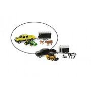 John Deere 1/32 Pickup Animal Hauling Set - Yellow