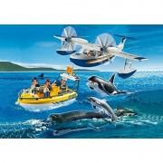 Set Avion Barca Si Balene Playmobil