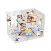 Dollhouse Miniature DIY Kit Cover Dream Love Secret Bedroom Room House PINK for X'mas Valentine's gift