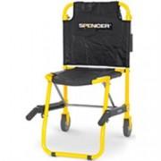 sedia portantina da evacuazione a 2 ruote spencer 420 gialla in acciai