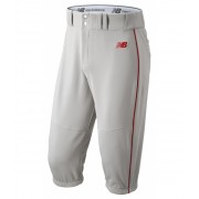 New Balance Men's Charge Baseball Piped Knicker Grey with Red