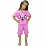 Pijamale Copii, Ana Art Textil, Model 'Nasuc Rosu'