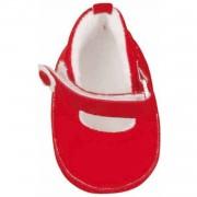 Käthe Kruse ballerina poppenschoenen rood voor pop van 48 cm