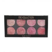 Makeup Revolution London Blush Palette paletka 8 tvářenek 12,8 g odstín Blush Queen pro ženy
