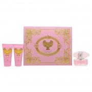 Versace Bright Crystal Set - Eau De Toilette 50 Ml + Body Lotion 50 Ml + Shower Gel 50 Ml (8011003837120)