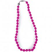 Жевательные силиконовые слингобусы Itzy Ritzy Round Bead Hot Pink