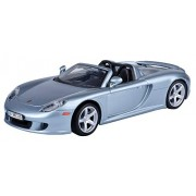 Motormax 1:24 Porsche Carrera GT Diecast Car (Metallic Dark Silver)