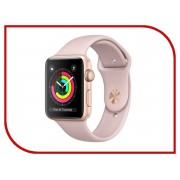 Умные часы APPLE Watch Series 3 38mm Gold with Pink Sand Sport Band MQKW2RU/A