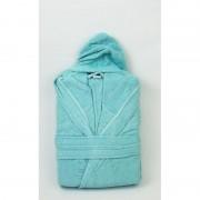Юношески халат с качулка SOFTNESS AQUA – 100% Памук