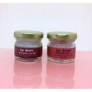 Peppermint Lip Balm and Lavender Lip Scrub Duo
