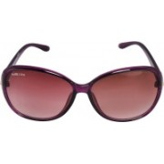 Park Line Over-sized Sunglasses(Red)