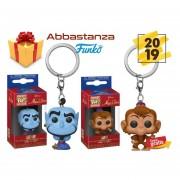 Set 2 Genio Abu Disney Aladdin Funko Pop! Keychain Llavero