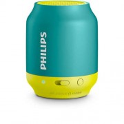 SPEAKER, Philips Wireless Portable Speaker, Bluetooth, 2W RMS, Blue/Green (BT50A)