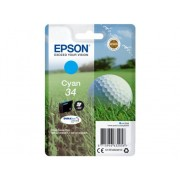 Epson Cartucho de tinta original EPSON 34, Bola de golf 4,2 ml , Cian, C13T34624010, T3462