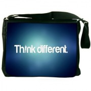 Think Different Digitally Printed Laptop Messenger Bag