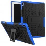 Capa Híbrida Antiderrapante para Lenovo Tab 4 10 - Azul / Preto