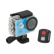 Camera video sport Ultra HD 4K WiFi cu afisaj LCD si microfon incorporat, culoare Albastru