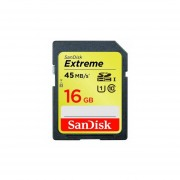 SanDisk Extreme 16 GB SDHC Class 10 UHS-1 Flash Memory Card 45MB/s SDSDX-016G-X46