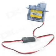 P0037 Bricolaje plastico + hierro volante motor Servo para R/C juguete - luz azul + blanco (4.8 ~ 6.0V)