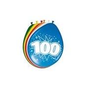 Folat 16x stuks ballonnen 100 jaar