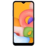 "Telefon Mobil Samsung Galaxy A01, Procesor Snapdragon 439, Octa-core, PLS TFT Capacitive touchscreen 5.7"", 2GB RAM, 16GB Flash, Camera Duala 13+2MP, 4G, Dual Sim, Wi-Fi, Android (Negru) + Cartela SIM Orange PrePay, 6 euro credit, 6 GB internet 4G, 2,000 m"