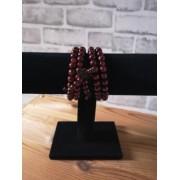 Bracelet Bordeaux Perles Bois de Santal