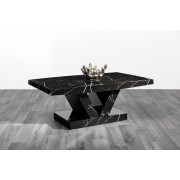 Black Marble Effect High Gloss Coffee Table